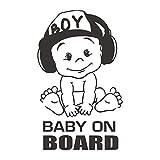 Pegatina Vinilo Bebe Jefazo a Bordo, Baby Boss on Board, BEBÉ A BORDO Etiqueta Engomada Del Coche Moda Creativa Cola Señal De Advertencia Calcomanía 4.7'x7'