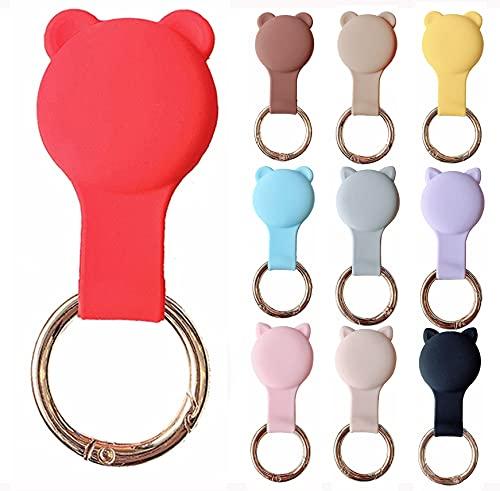 KURT HOME Premium Zubehör Anhänger Case GPS mit Motiv Hülle Soft Apple AirTag Holder Schlüsselanhänger Silikon für Kinder Mädchen Kleinkind Hund kaufen (ROT)