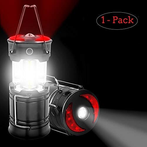 iBazal Waterdichte LED campinglantaarn lichte campinglamp tuinlantaarn opvouwbare USB-lamp zaklamp noodverlichting batterijvoeding tent licht voor vissen, jagen, wandelen, noodgevallen, uitval