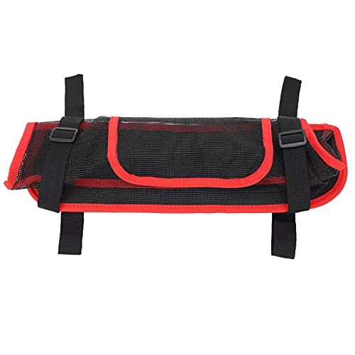 Yeelur Soporte para Bolso, Bolsa de Almacenamiento para suspensión de automóvil Bolsillo de Red para automóvil Engrosado y endurecido con Ajustable para Cables de Carga(Red)