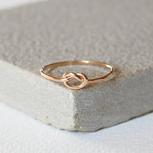 Gold Forget me knot Gold fill ring, thin gold ring, stacking ring, delicate jewellery, dainty ring