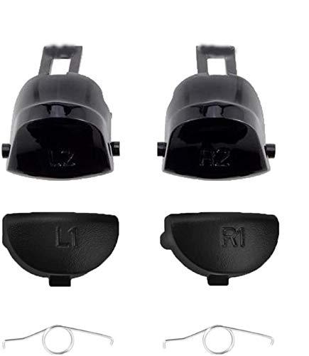Komplettes Set L1 R1 L2 R2 Triggertasten Ersatz mit Federn für Sony PS4 Dualshock 4 PS4 Pro PS4 Slim Game Controller (JDS040 JDM-040)