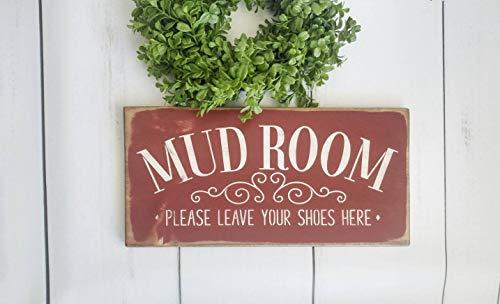 Yilooom Mudroom teken, Rustieke Boerderij Muurdecoratie, voordeur houten borden, Huiswarming geschenk, entree decor, modder kamer laat schoenen hier