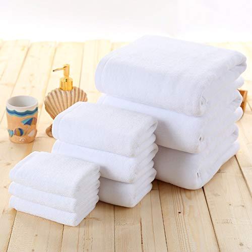 Hotel Toalla 30/150 cm Blanco Rápido de algodón de algodón Toalla de Cuarto Toalla Toalla Ducha Baño Baño Natación Toallas Guangzhouweiyukejiyouxiangongsi (Size : 30x30cm 21Yarn 50G)