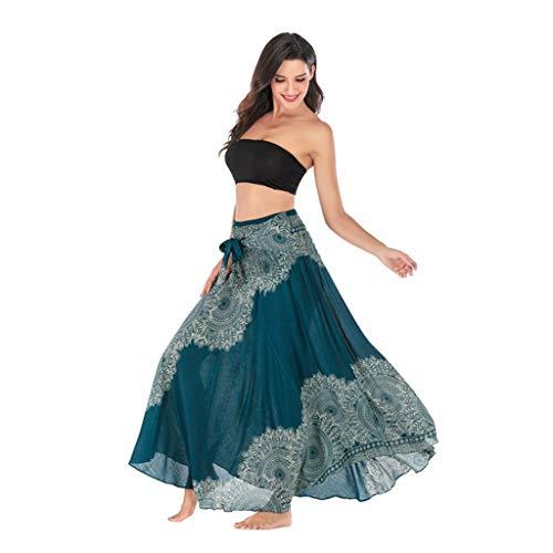 Faldas Largas y Elegantes Faldas Largas Mujer Verano Faldas Mujer Invierno Primavera Vestidos Mujer Hippie Bohemia Gitana Boho Flores EláStico Cintura Floral Falda