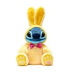 Idea Regalo - Disney Store Peluche Medio Stitch Coniglietto Pasquale Edizione Pasqua 2021 Morbido Peluche Coniglio Giallo Originale Disney