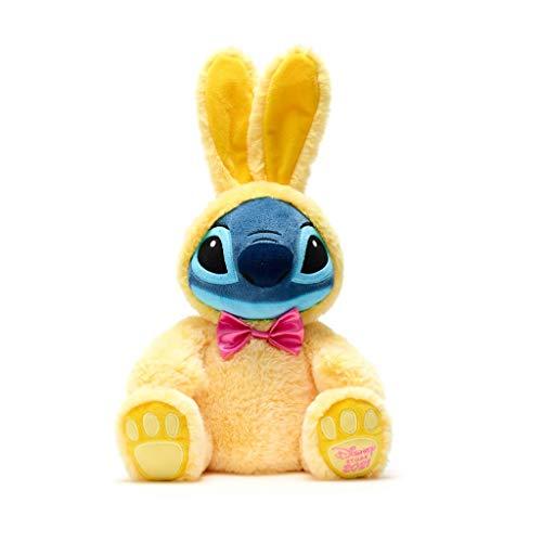 Disney Store Peluche Medio Stitch Coniglietto Pasquale Edizione Pasqua 2021 Morbido Peluche Coniglio Giallo Originale Disney