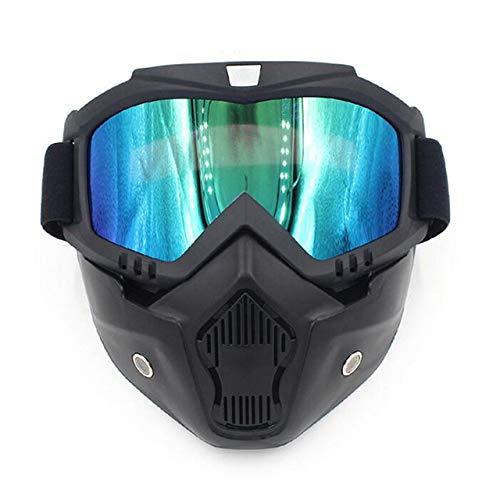STHfficial Skibril voor heren, snowboarden, winter, motorschaatsen, winddicht, skibril, motorcross, zonnebril met mondfilter 19