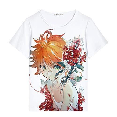 Nova camiseta The Promised Neverland Emma Norman Ray legal Anime Promised Neverland Cosplay camisetas masculinas/meninos pulôver, 7, XL