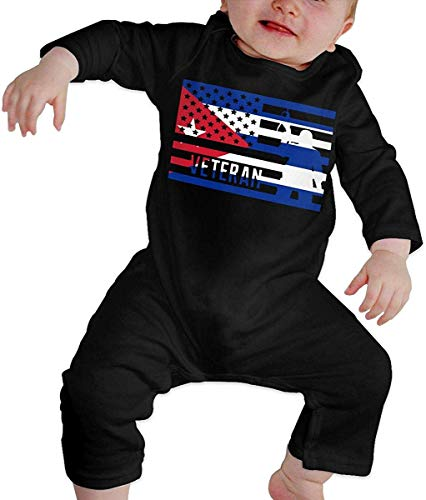 WlQshop Unisex-Baby Kurzarm Body, Veteran American Cuba Flag Toddler Baby Boy Girl Long Sleeve Infant Cotton Bodysuits