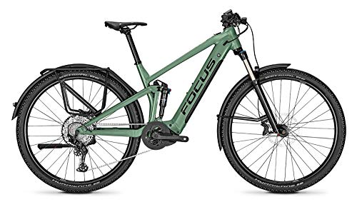 Focus Thron² 6.8 EQP Bosch Trail & Touren Fullsuspension Elektro Mountain Bike 2020 (XL/50cm, Mineral Green)