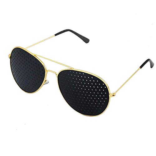 Aooeou Gafas estenopeicas para mejorar la visión Gafas de ejercicio ocular Gafas de mejora de la vista Gafas de corrección ocular Gafas para fortalecer la vista Protección de la vista