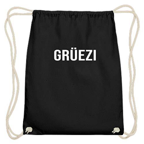 Grüezi Groet Dich Beiers Zwitserland Oktoberfest München Bayern feesttent outfit design - katoen gymzak