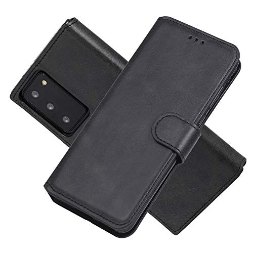FANFO® Hülle für Samsung Galaxy S20 FE/S20 Lite/Fan Edition HandyHülle, Premium PU/TPU Leder Tasche Magnetverschlüsse Schutzhülle Flip Wallet Klapphülle Hülle Cover, schwarz