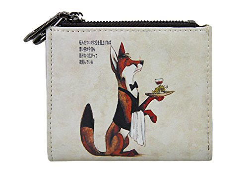 Teen Girls Kids Cute Cartoon Parttern PU Leather Short Bi-fold Mini Wallet Small Card Cash Purse Case Holders Coin Pouches Money Clip