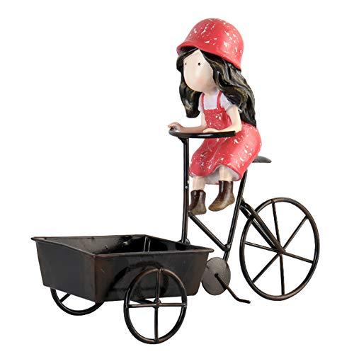 LBYLYH Estatua Adornos Decorativas del hogar Estatuilla de Personaje Creativo Niña Montando un Triciclo Habitación Infantil Decoraciones de Escritorio Regalos de cumpleaños