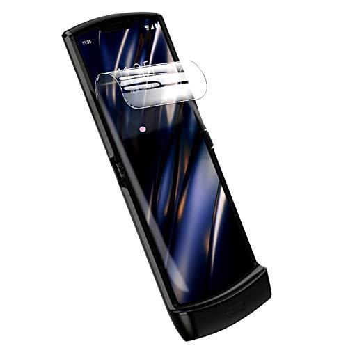 Kompatibel mit Moto Razr 5G Bildschirmschutzfolie, 2 Stück, blendfrei, vollständig bedeckt, kratzfest, mattierte Folie für Motorola Moto Razr 5G 2020, Innenschutz, matt, transparent