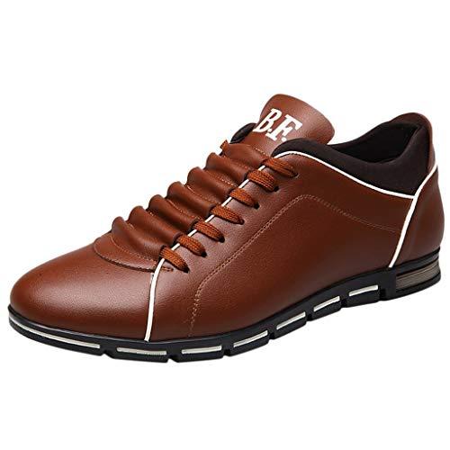 Alaso Mocassins Chaussures de Ville Classique Homme Cuir Sneakers Basses Casual Cuir Confortable Mode Baskets Plates Homme Travail Chaussure