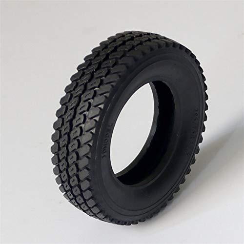 Huanruobaihuo 1pc 1:14 Tamiya Rueda de Tractor Neumático D75MM Neumáticos de Goma 75 * 21mm Neumático Estrecho W Forro de Esponja Adecuado para 1/14 Camión de Remolque RC Piezas de Coche