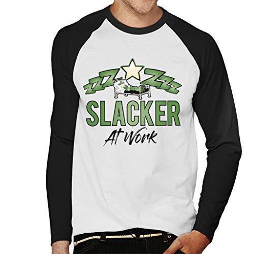 Beetle Bailey Slacker at Work Men's Baseball Long Sleeved T-shirt