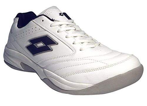 Lotto Herren Court Logo VIII SI Tennisschuhe, Weiß (White/D Core Blue 001), 42 EU
