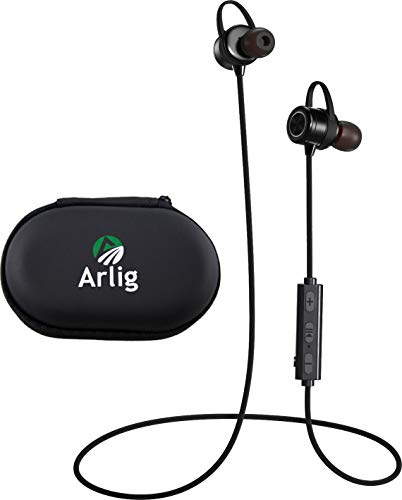 Arlig Wireless Bluetooth Earbuds with Microphone - Waterproof and Sweat-Proof Headphones - Magnetic in-Ear Headset with Noise Cancelling Mic - 9 hr Battery Life - Quick Charging - Freedom Sport Pro X1