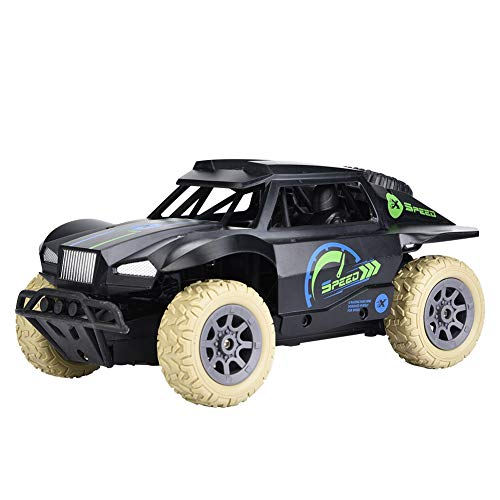 Dilwe RC Short Course Truck, 1/20 Scale RC Short Course Racing Truck High Speed Remote Control Car Toy Vehicle Gift for Kids Children(Blue Black)