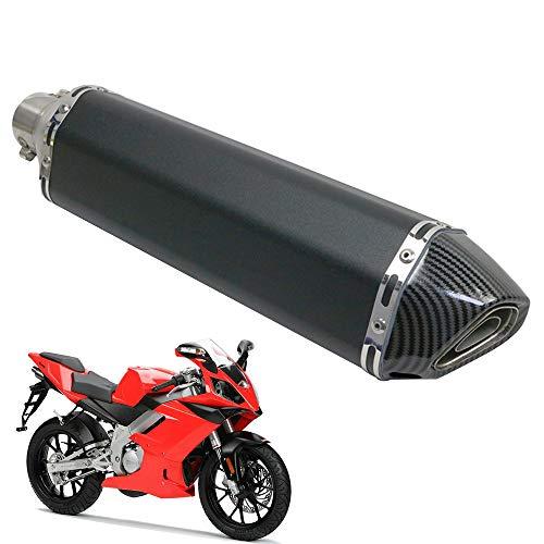 Silenciador Moto 51MM,KKmoon Silenciador Escape Moto 38-51mm 47cm Acero Inoxidable Silenciador para Motocicleta