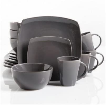 Square Dinnerware In a popularity Service for Soldering 8 Bowls Mugs 32-Piece Set Plates