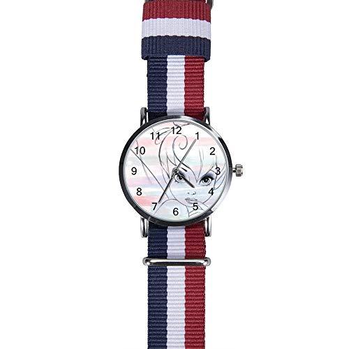 Armbanduhr mit Tinkerbell und Fee, 2 Stück, Freizeit-Armbanduhr, Quarz, für Herren, Damen, Kinder, Freunde, Geschenke