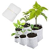 Matogle 600pcs Bolsas de vivero no Tejidas Bolsas de Cultivo de Plantas biodegradables Macetas de plántulas de Tela Bolsa de Plantas para Suministros de jardín