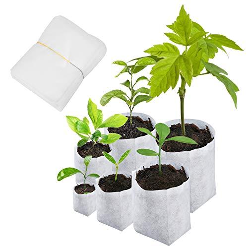 Matogle 600pcs Sac Biodégradable pour Semis Sac Biodegradable Non-tissé de Pépinière Respctueux Environnement Élever Taux Survie de Plante Convenir Maison Jardin