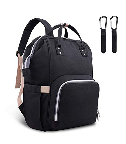 LSDQ Changing Bag Backpack, baby Diaper Bag with Insulated Pockets Stroller Straps, Nappy Back Pack for Mom and Dad