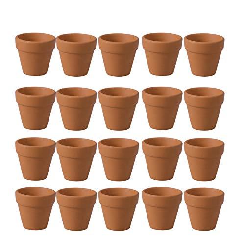 Cabilock - 20 macetas de terracota, arcilla, cerámica, plantas, cactus y macetas,...