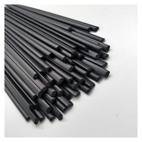 Barras de Soldadura de plástico PP (3 mm) Negro, Paquete de 200 mm * 40 PCS/Forma Triangular/Suministros de Soldadura Barras de Soldadura Motocicleta de la batería.