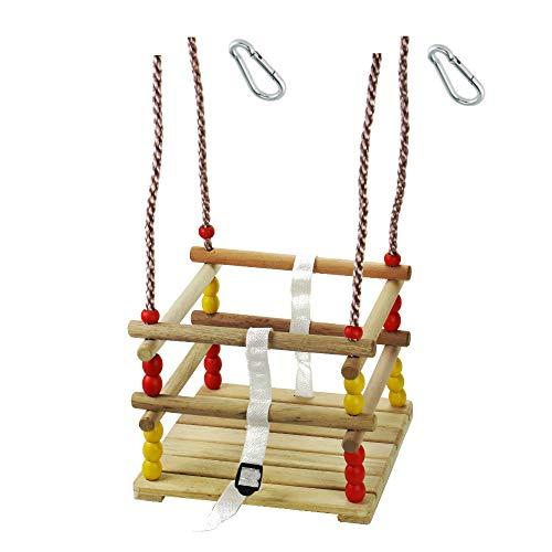 h2i Klein-Kind Gitter Schaukel mit Haltegurt und Verschluß und Karabiner zum Einhängen