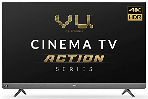 Vu 139cm (55inches) Cinema TV Action Series 4K Ultra HD LED Smart Android TV 55LX (Black) (2021 Model) I With 100 watt Front Soundbar