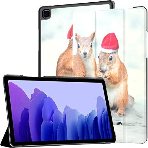 Funda para Samsung A7 2020 Cuatro Ardillas de Papá Noel Collage navideño para Samsung Galaxy Tab A7 10.4 Pulgadas 2020 Compatible con Galaxy A7 Funda para Tableta Funda de Cuero PU
