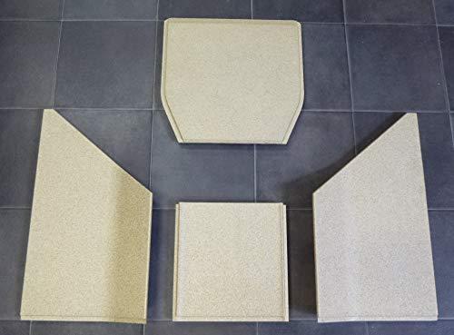 Feuerraumauskleidung A für den MEZ Turin Kaminofen - Vermiculite - 4-teilig