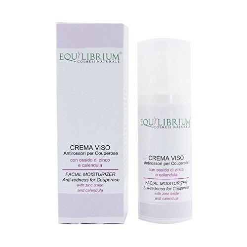 EQUILIBRIUM - COSMESI NATURALE Crema viso Antirossori per Couperose 50 ml con Ossido di Zinco e Calendula