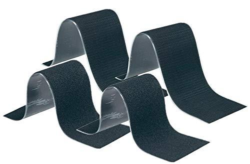 2x Set Selbstklebende Kennzeichenhalter Klettbänder Schwarz, Flauschteil und Haftteil super stark zum Befestigen und Fixieren auch als Werkzeughalter 10,7 x 50cm