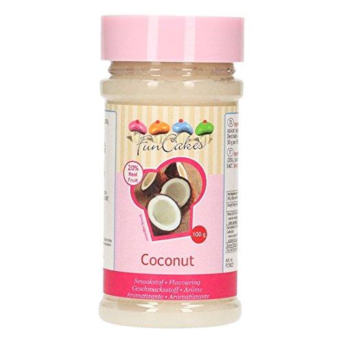 FunCakes Aroma de Coco de FunCakes: Aromas Alimentarios, Gran Sabor, Perfecto para Decorar Pasteles, Adecuado para Masas y Rellenos. 100 g