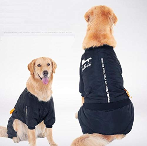 FHKGCD Winter Large Dog Jumpsuit kleding Labs Big Dog kleding jas waterdichte Ski Pet Jacket jas 3XL-7Xl
