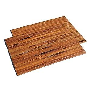 2er Set Bambus Tischsets, Platzsets, Handgefertigt Platzdeckchen, umweltfreundlich und hitzebeständig für Dekoration und…
