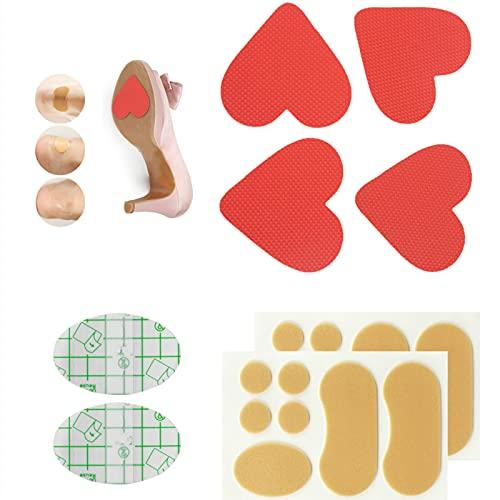 2 Paar selbstklebende Anti-Rutsch-Pads für Schuhe, Schuhsohlenschutz, Aufkleber mit mehrteiligen Absatzaufklebern, verschleißfest, für High Heels, rotes Herz
