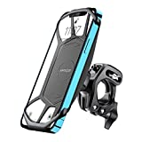 Bike Phone Mount, 360° Rotating Anti-shake Motorcycle Phone Holder, Silicone handlebar Bicycle Stand Compatible with 4-7 inch Smartphone, iPhone 12 Pro Max/11/8, Samsung S21/S10