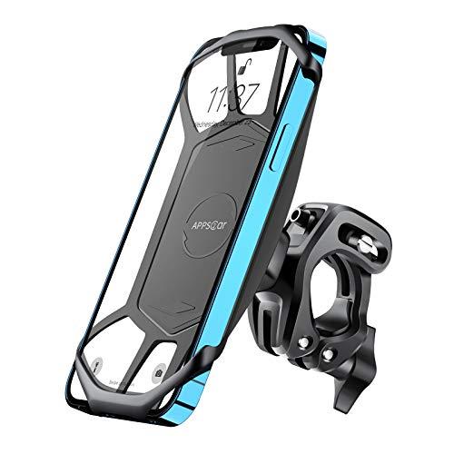 Handyhalterung Fahrrad, 360° drehbar Anti-Shake Handy Halterung Fahrradlenker, Handyhalterung Kompatibel mit 4-7 Zoll Smartphone, Phone 12 Pro Max/11/8, Samsung S21/S10