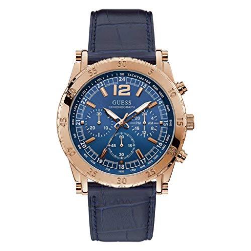 Guess Herren Chronograph Uhr mit Leder Armband