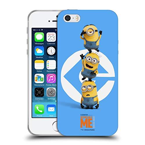 Head Case Designs Ufficiale Despicable Me Gruppo Pila Minions Cover in Morbido Gel Compatibile con Apple iPhone 5 / iPhone 5s / iPhone SE 2016