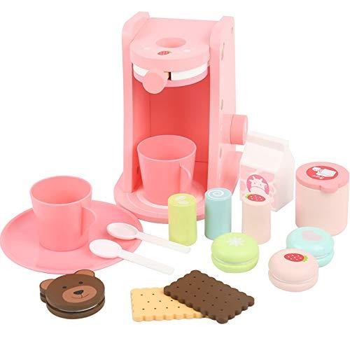 JenLn koken en leren slimme keuken puzzel keuken speelgoed koffiemachine jongens meisjes doen alsof speelgoed koken rol spel cadeau educatieve kinderen doen alsof keuken speelgoed voor kinderdagverblijf en kleuterschool(roze)